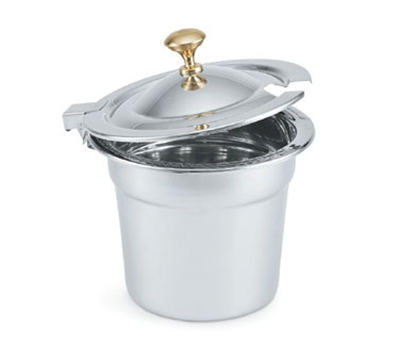 Vollrath 8231620 Hinged Cover for 7-qt Decorative Soup Inset - Brass Knob, Stainless