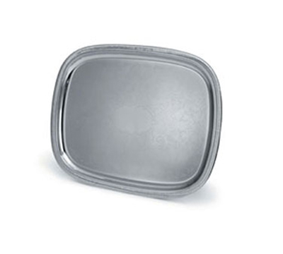 "Vollrath 82380 Oblong Serving Tray - 17-7/8x13-7/8"" Gadroon Edge, Silverplated"