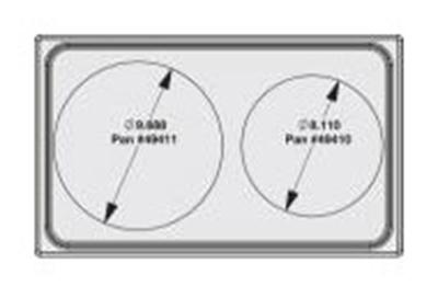 Vollrath 8242016 Miramar Single-Size Template - (1)5-qt Casserole and (1)3-qt Casserole, Satin-Edge
