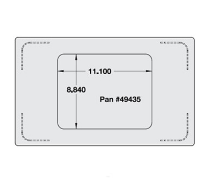 Vollrath 8242816 Miramar Single-Size Template - (1) Small Food Pan, Satin-Edge Stainless