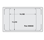 Vollrath 8242916 Miramar Single-Size Template - (1) Large Food Pan, Satin-Edge Stainless
