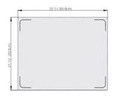 Vollrath 8250014 Miramar Double-Well Blank Template - Stainless