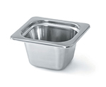 "Vollrath 8264220 Miramar 1/6 Size Decorative Foodpan - 4"" Deep, Mirror-Finish Stainless"