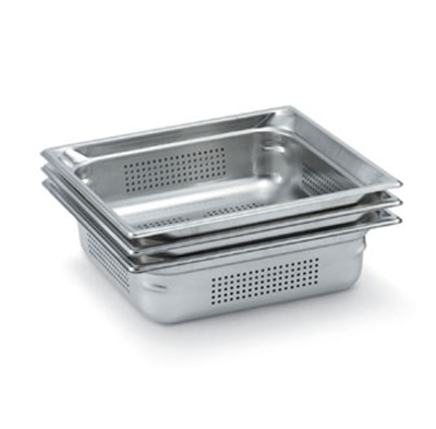 Vollrath 90053 Full-Size Perforated Steam Pan, Stainless
