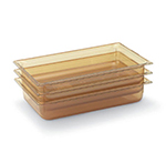 "Vollrath 9002410 Full-Size Hot Food Pan - 2-1/2"" Deep, Amber"