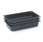 "Vollrath 9004420 Full-Size Hot Food Pan - 4"" Deep, Black"