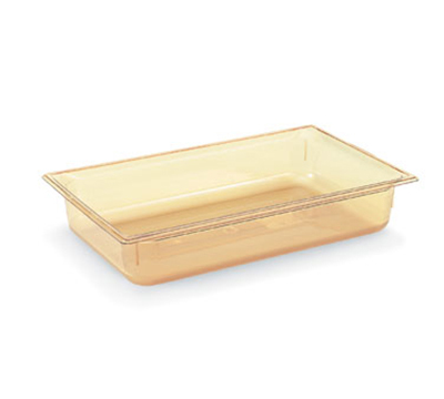 "Vollrath 9004410 Full-Size Hot Food Pan - 4"" Deep, Amber"