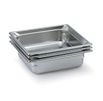 Vollrath 90122 Super Pan 3 Two-Third Size Steam Pan, Stainless