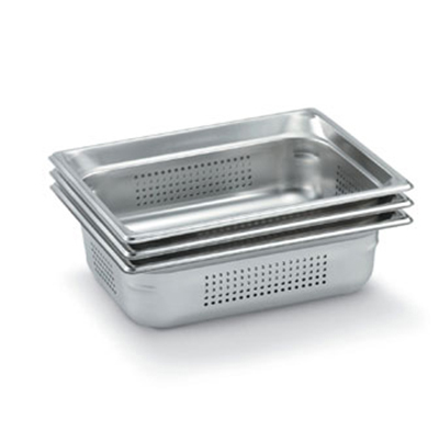 Vollrath 90223 Half-Size Perforated Steam Pan, Stainless
