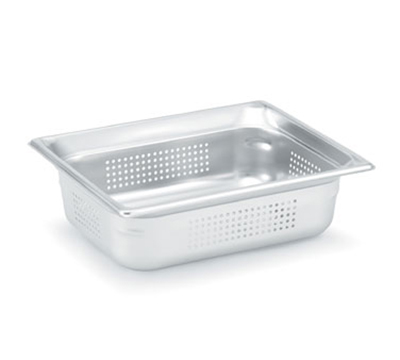 Vollrath 90243 Half-Size Steam Pan Perforated, Stainless
