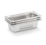 Vollrath 90323 Third-Size Steam Pan, Stainless