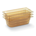 "Vollrath 9036410 1/3 Size Hot Food Pan - 6"" Deep, Amber"