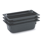 "Vollrath 9032420 1/3 Size Hot Food Pan - 2-1/2"" Deep, Black"