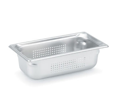 Vollrath 90363 Third-Size Steam Pan, Stainless