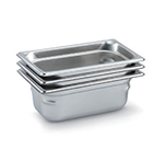 Vollrath 90462 Super Pan 3 Fourth-Size Steam Pan, Stainless