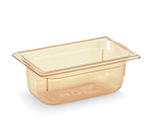 "Vollrath 9044410 1/4 Size Hot Food Pan - 4"" Deep, Amber"