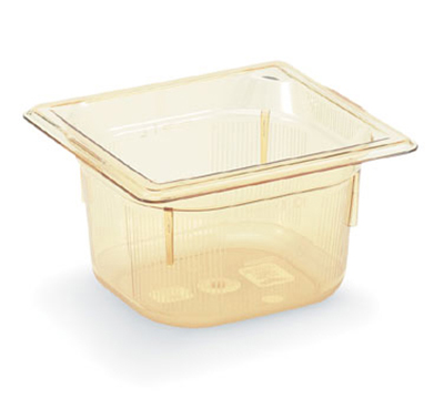 "Vollrath 9066410 1/6 Size Hot Food Pan - 6"" Deep, Amber"