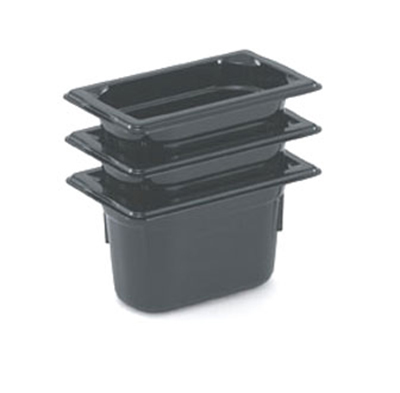 "Vollrath 9094420 1/9 Size Hot Food Pan - 4"" Deep, Black"