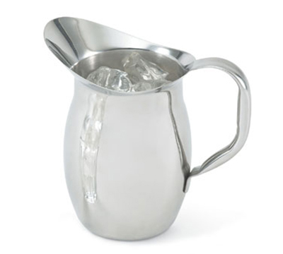 Vollrath 92020 2-qt Bell-Shaped Pitcher - Hollow Handle, Mirror-Finish Stainless