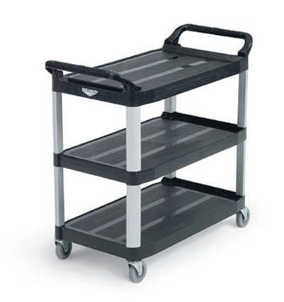 "Vollrath 97007 Multi-Purpose Cart - 40-1/4x19-7/8x37"" 300-lb Capacity, Plastic/Aluminum, Black"