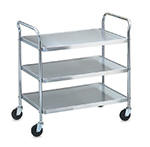 Vollrath 97105 3-Shelf Utility Cart - 400-lb Capacity, Chrome-Plated Stainless