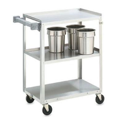"Vollrath 97120 3-Shelf Utility Cart - 300-lb Capacity, 27-1/2x15-1/2x32-5/8"" Stainless"