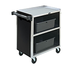 "Vollrath 97181 3-Shelf Paneled Bussing Cart - 300-lb Capacity, 39-1/4x21x34-3/4"" Black"