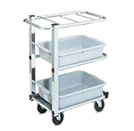 Vollrath 97186 3-Shelf Utility Cart - Single Cantilever, Chrome