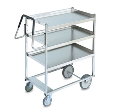 Vollrath 97203 3-Shelf Utility Cart - 900-lb Capacity, Raised Lower Shelf, Stainless