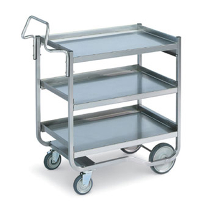 "Vollrath 97211 3-Shelf Knock-Down Cart - 37-3/4x21-1/8x42-1/4"" Stainless"