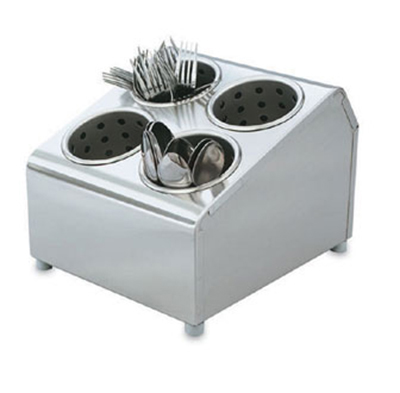 "Vollrath 97241 Cutlery Dispenser - 6 Cylinder, 14-7/8x11-1/2x8-1/2"" Stainless"