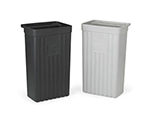 "Vollrath 9728820 Refuse Bin for Standard and Tubular Carts - 13-1/2x8x22-3/4"" Gray"
