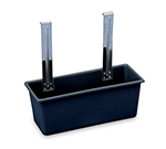 Vollrath 97290 Bussing Cart Silverware Bin - Black Plastic