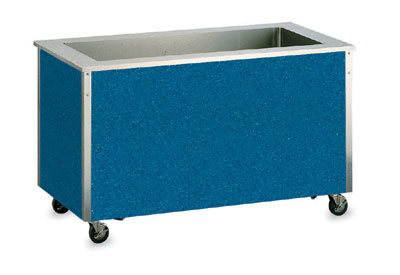 Vollrath 98707 6-Cold Well Food Station - Enclosed Base, Stainless