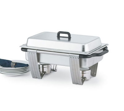 "Vollrath 99860 Full-Size 9-qt Rectangular Chafer - Dome Cover, 2-1/2"" Food Pan, Stainless"