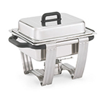 "Vollrath 99870 Half-Size 4.1-qt Chafer - Dome Cover, 2-1/2"" Food Pan, Stainless"
