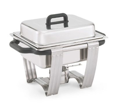 """Vollrath 99870 Half-Size 4.1-qt Chafer - Dome Cover, 2-1/2"""" Food Pan, Stainless"""