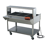 "Vollrath 38052 32"" Single Deck Cafeteria Breath Guard - 32x10x13"" Plexiglas Guard, Stainless"