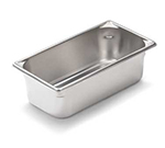 Vollrath 30442 Fourth-Size Steam Pan, Stainless