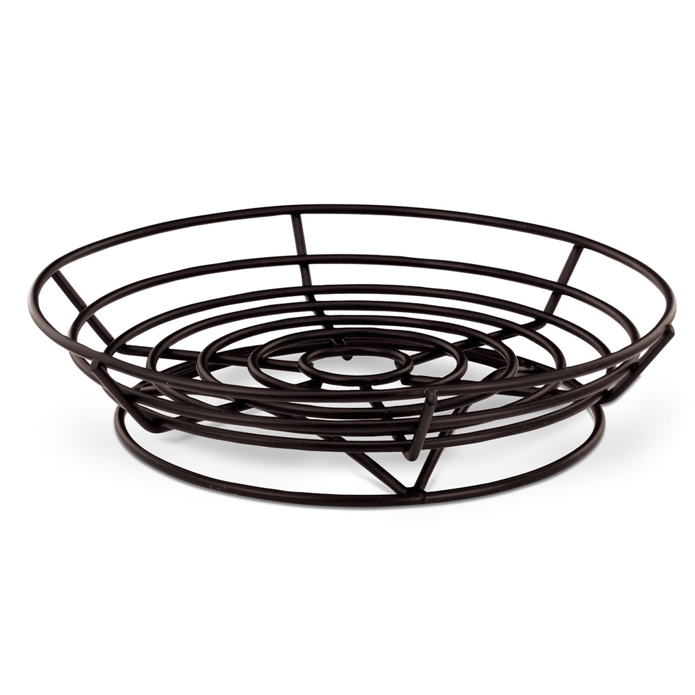 "Vollrath WP9-06 9"" Round Wire Platter - Black"
