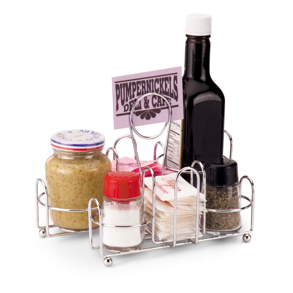 "Vollrath WR-1000 Wire Rack Condiment Caddy - 8x6x5-1/2"" Chrome"