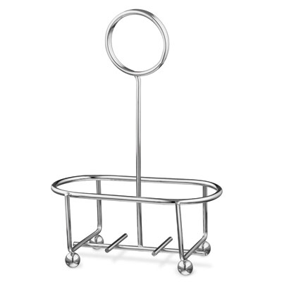 "Vollrath WR-1003 Wire Rack Condiment Caddy - 4-3/8x2-3/8x6"" Chrome"