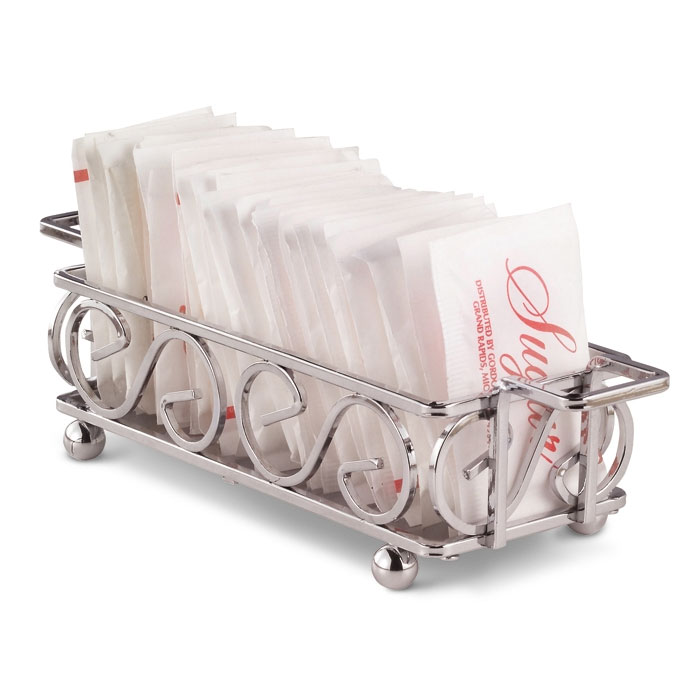 Vollrath WR-1024 Rectangular Wire Sugar Caddy with Handles