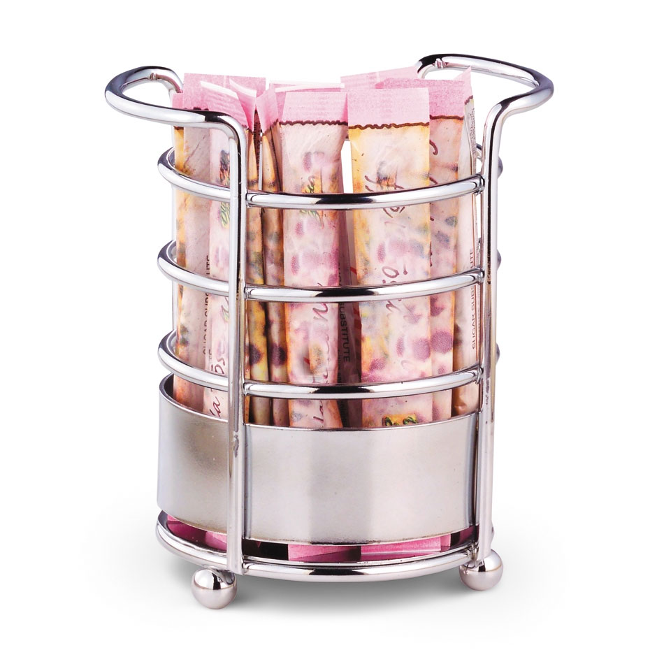 Vollrath WR-1025 Round Wire Sugar Caddy with Handles