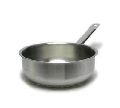 "Vollrath 3153 10-1/8"" Induction Saute Pan - Curved, Aluminum Bottom, 18-ga Stainless"