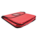 Intedge IPK-4 R Pizza Delivery Pouch - 20 x 20 x 5 - Red