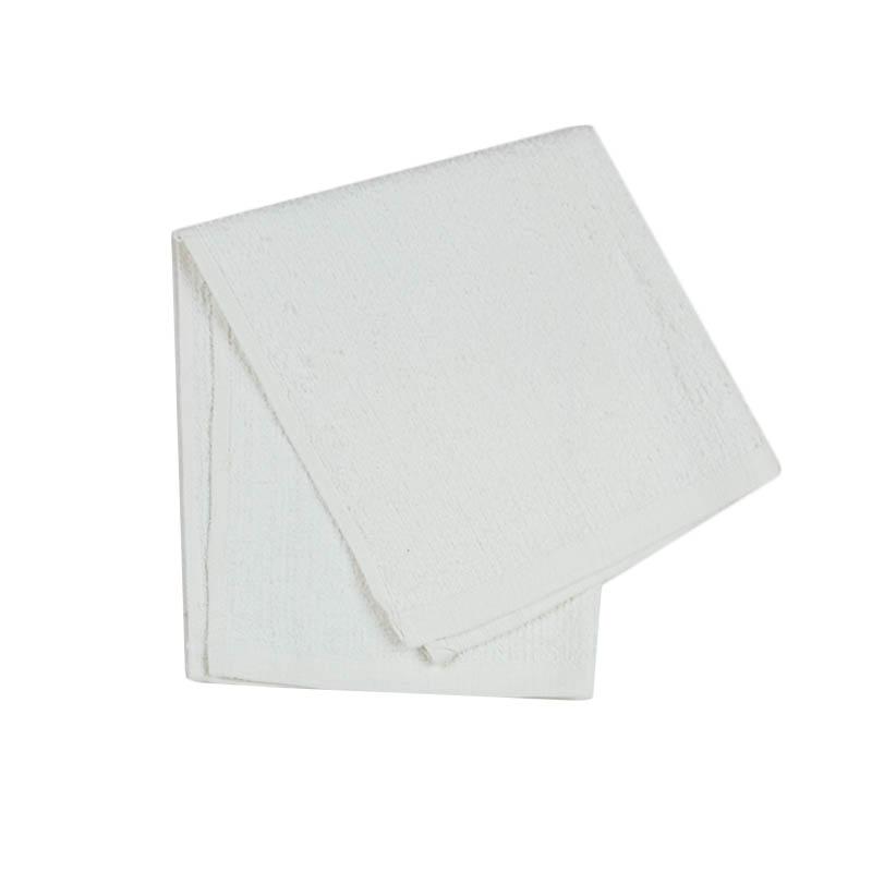 "Intedge 313SP-32 White Terry Cloth Bar Towel, 20"" x 17"""