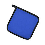 "Intedge 315 BLU Poly Cotton Pot Holder, 8 x 8"", Royal Blue"