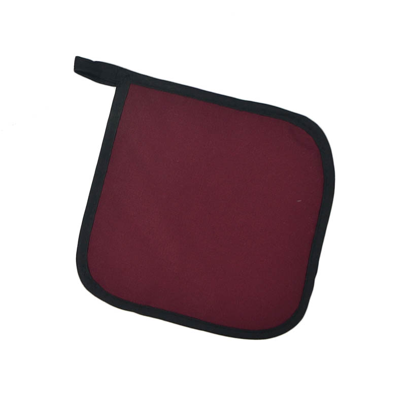 "Intedge 315 BU Poly Cotton Pot Holder, 8 x 8"", Burgundy"