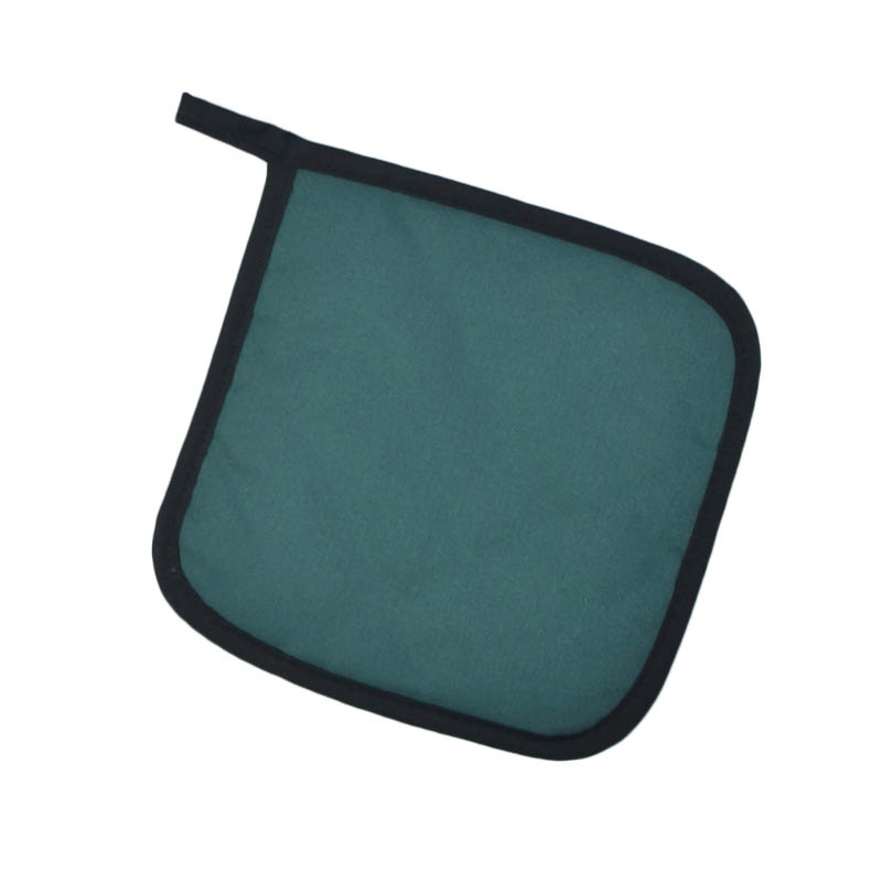"Intedge 315 HG Poly Cotton Pot Holder, 8 x 8"", Hunter Green"
